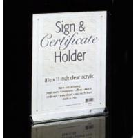 Buy cheap clear acrylic sign holder with pockets product