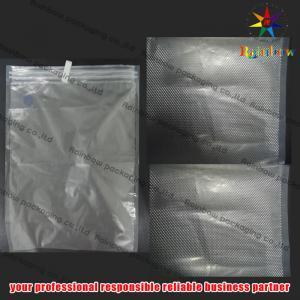 China Embossed PET Vacuum Seal Storage Bags With Zip Lock For Cookies on sale