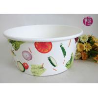 Buy cheap 43oz Food Grade PE Coated Low Leakage Disposable Paper Bowls / Enamel Paper from wholesalers