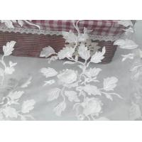 Buy cheap Tulle Tape Embroidery Mesh Lace Fabric 3d Flower With SGS Certificate product