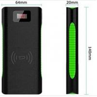 China Mobile Phone Slim Wireless Charging Power Bank Dual USB with LED Flashlight on sale