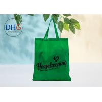 Green Polyester Tote Bags Silk Screen Printing Advertising Suitable Carrier Sustainable