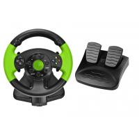 Buy cheap PC / X-INPUT / P3 / XBOX 360 All in One VIdeo Game Steering Wheel with Foot Pedal product