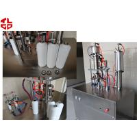 Buy cheap Freon Under Cap Vacuum Semi Automatic Aerosol Filling Machine For Refrigerant product