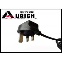 China UK Flat Plug 3 Prong Power Cord With Fuse For Laptop / Consumer Electronics on sale