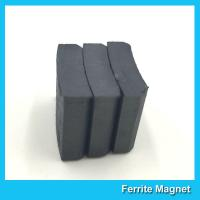 Buy cheap Arc Shaped Permanent Ferrite Magnet For Ceiling Fan Motor SGS Certification product