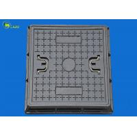 Buy cheap Fiber Glass Road Sewer Drain Grating Square Manhole Cover Frame Ductile Well Lid product