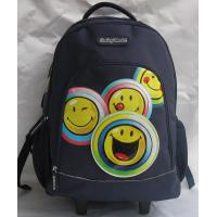China Navy Children Rolling Backpack School Student Wheeled Book Bag 210D Lining on sale