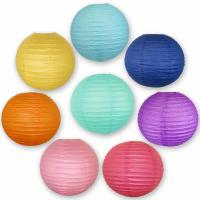 Buy cheap Colorful Chinese Paper Lamp Paper Lantern Decorations 6 Inch / 8 Inch product