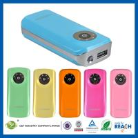 China Lithium Polymer Batteries Portable Power Banks 5600mAh with LED Flashlight on sale