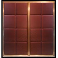 Aluminum frame leather upholstered doors for wardrobe - Decorative doors for sale ...