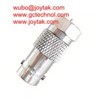 China BNC Female To F Male all brass nickel plated Coaxial Adapter BNC Coaxial Adaptor CCTV coax Connector / BNCF.FM.02 on sale