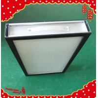 Quality Aluminum frame glassfibre deep pleat Hepa panel filter for clean room for sale