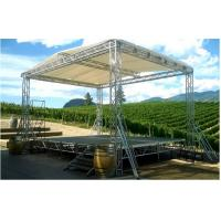 Silver DJ Aluminum Box Truss , Hard Welding Outdoor Concert Stage Lighting Truss
