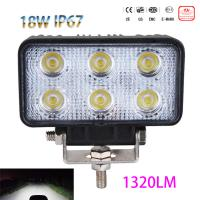 China IP67 18W 6LED Spotlight Spot light Work Light Lamp Bar Flood Beam Tractor Truck Bright 12-30V CE GS EMCFor Moto SUV Car wholesale
