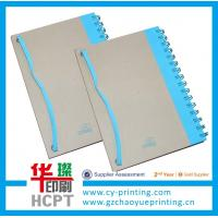 Buy cheap Custom spiral paper notebook with elastic bound from wholesalers