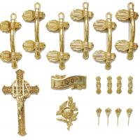 Casket Handle Coffin Fitting S9004 , Coffin Lid Screw And Casket Cross