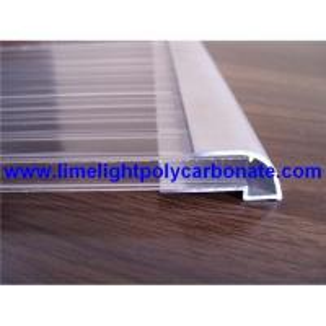 Aluminium U profile, aluminium edge, pc sheet accessories, polycarbonate sheet profiles