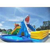 Buy cheap Environmental Backyard Inflatable Water Parks Shark Water Slide With 2 Years Warranty from wholesalers