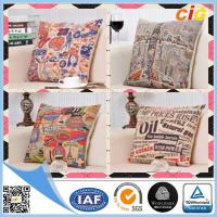 China Linen Fabric Embroidered Decorative Replacement Seat Cushion Covers for Chairs / Sofa on sale