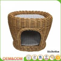 Buy cheap Wicker pet basket willow dog house wicker cat bed M size with mat 2 dogs product