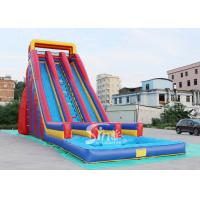 China 10m high giant inflatable water slide for adults made of heavy duty pvc tarpaulin on sale