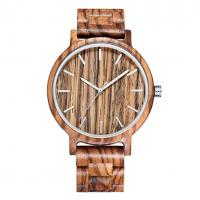 Buy cheap Hand Engraved Zebra Wood Watch product