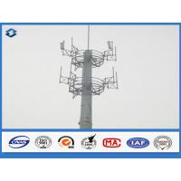 Buy cheap 10 - 40 m Electric cell phone tower Steel Monopole mast Slip Joint Connection from wholesalers