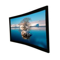 Buy cheap 120''  wall mounted projector screens , Curved Projection Screen for Home Theater product