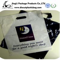 Buy cheap Black printing  Die-cut Patch Handle Bags HDPE LDPE Plastic Retail Bags Degradable product