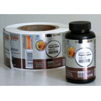 Buy cheap Multi Color Medicine Bottle Label With Anti - Dirty Glossy Lamination product