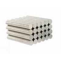 Buy cheap Free Sample N35 D8x3mm Disc Strong Magnetic Force NdFeB Magnet Zinc Coating product
