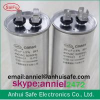 Buy cheap HQ polypropylene film oil type round ac motor run capacitor CBB65 for air conditioner factory manufactuer made in china product