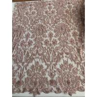 Buy cheap Bridal Pearl Heavy Beaded Lace Fabric , Wedding Dress Beaded Embroidered Lace product