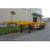 Buy cheap 20ft / 30ft Gooseneck Rear 3 FUWA Axles Carbon Steel Container Trailer Chassis product