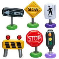 China Outdoor or Indoor Inflatable Kids Float , 6-pc Incredible Inflatable Traffic Signs on sale