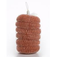 Buy cheap PP Material Metal Scrub Pad , Antibacterial Copperized Stainless Steel Scrubber product