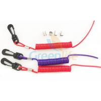 Buy cheap Elastic Coil Style Jet Ski Safety Lanyard Tethers Durable Outboard Engine Kill Cords product