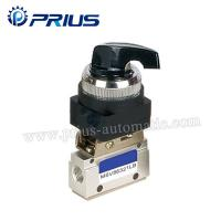 Buy cheap 3 Way 2 Position Pneumatic Valve MSV86321PB , Round Green Button Mechanical Air Valve product