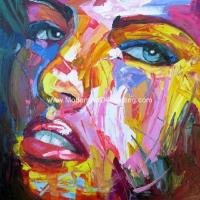 Buy cheap Large Thick Oil Palette Knife Oil Painting woman canvas Colorful female abstract from wholesalers
