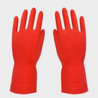 Buy cheap Red Household Rubber Gloves FOR office cleaning , women gloves product