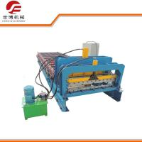 Buy cheap 1000 Model Step Roofing Tiles Roll Forming Machine Fully Automatic Blue Color product