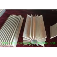 Buy cheap Round Extruded Aluminum Heat Sink Profile With Small Longitudinal Fins from wholesalers