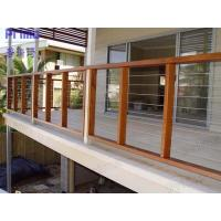 Buy cheap Free sample China wholesales stainless steel rod railing with wood handrail product