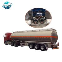 Buy cheap stainless steel  3 Axle 4 Axle Oil Fuel Tanker Semi Trailer for Fuel Transport product