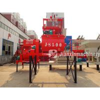 Buy cheap Automatic containerized new condition js500 concrete twin shaft mixer product