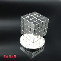 Buy cheap 5mmx5mmx5mm Strong Rare Earth Block square Neodymium Magnets N35 product