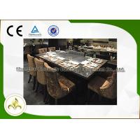 7 Seat Electric Induction Teppanyaki Grill Table Basic Configuration CE ISO9001 Certification