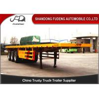 Buy cheap 40 Ft Flatbed Container Semi Truck Trailer BPW Axles Air Suspension product