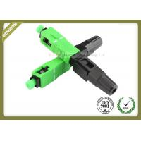 Buy cheap SM Fiber Optic Accessories , SC APC Fast Fiber Optic Connectors For FTTH Network from wholesalers